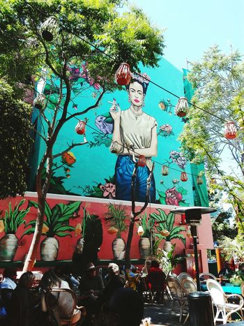 Tree Day People Outdoors Real People Full Frame Piraeus Coffee Time Frida Khalo