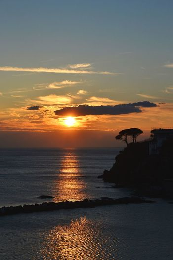 Liguria Italy Genova Sestri Levante Baia Del Silenzio Landscape Landscapes Silhouette Sunset Sunset Silhouettes Sea Sunset Water Beach Gold Colored Sunlight Silhouette Reflection Sun Sky Romantic Sky Dramatic Sky Sky Only Dramatic Landscape Majestic