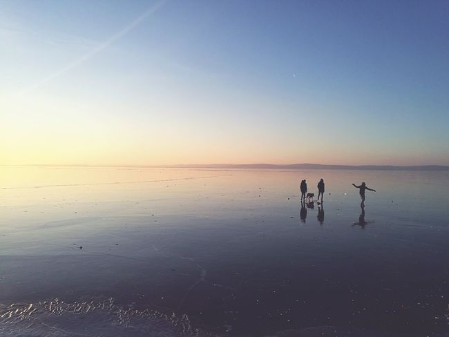 Sunset Water Reflection Nature Beauty In Nature Outdoors Sky Refraction Sea Nature Landscape Lake Nature_collection Cloud - Sky Beauty In Nature Hungary Siluette Group Of People Youngs Challange Feeling Good Balaton Lake Dogwalk EyeEmNewHere