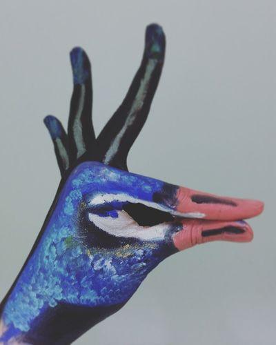 Makeup Handart Art Bodypainting Colours Peacock Bird Animal Themes