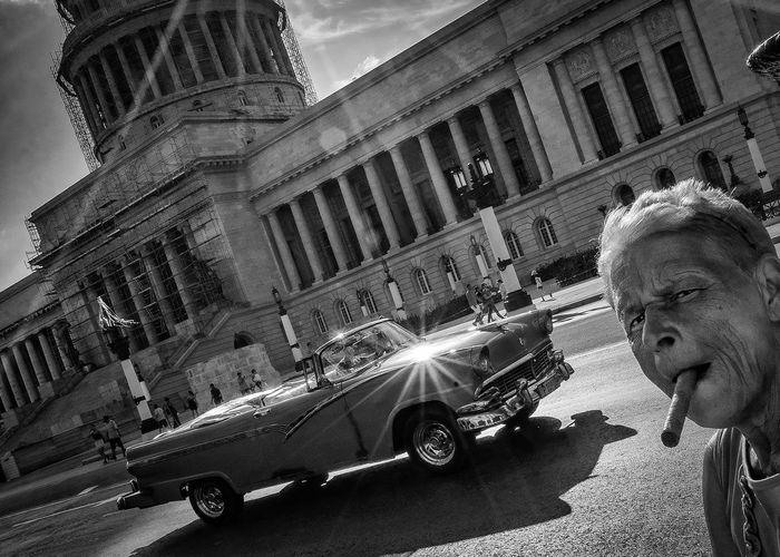 Passing by Black & White Capitol Cuba Cuba Collection Blackandwhite Cigar Cuban Cigar Cuban Life Oldcar Streetphoto_bw Streetphotography Black And White Friday EyeEmNewHere An Eye For Travel An Eye For Travel Mobility In Mega Cities Stories From The City Adventures In The City The Street Photographer - 2018 EyeEm Awards