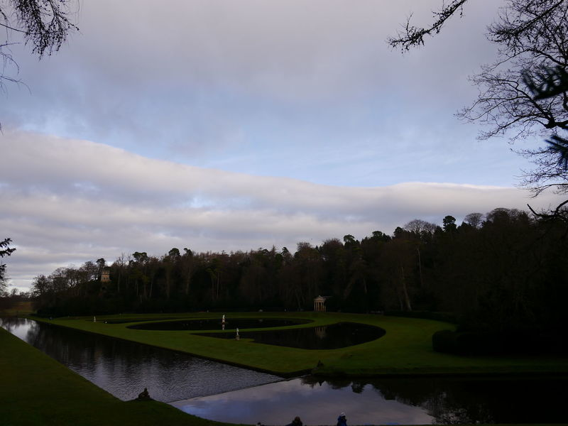 Beauty In Nature Cloud - Sky Day December December 2016 Fountains Abbey Fountains Abbey Yorkshire Fountains Abbey, Yorkshire Golf Golf Course Grass Green - Golf Course Growth Landscape Nature No People Outdoors Scenics Sky Tranquil Scene Tranquility Tree Water