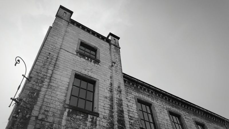 Ravensberger Park, Bielefeld Germany Low Angle View Sky Architecture Built Structure No People Outdoors Building Exterior Day Smartphone Photography Mobile Photography Old Building  Germany Bielefeld Brick Wall Architecture Black And White Black And White Photography