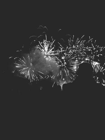 Fireworks Blackandwhite