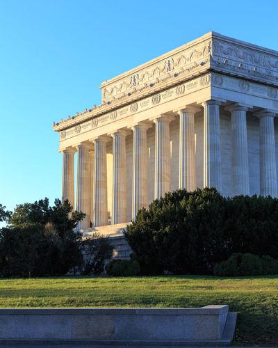 Lincoln Memorial. Architecture Building City Colonnade Columns DC Historic Landmark Lincoln Memorial Memorial National Mall Park Washington Washington DC