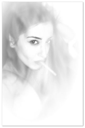 Black And White Portrait Avant Erotica Portrait Of A Woman Smoking Seduction Look Into My Eyes... Look Me In The Eyes My Love picture taken by Lina EyeEm Best Shots - Black + White