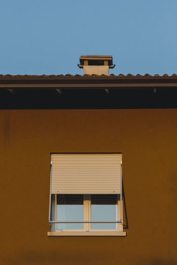 Architecture Chimney Clear Sky Colors Façade Building Exterior Italy Italy❤️ No People Pastel Shutter Window