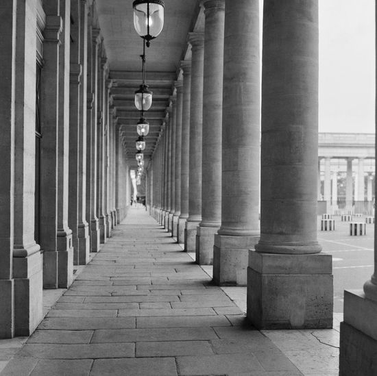 Paris Paris Film Photography Architectural Column Architecture In A Row Built Structure Direction The Way Forward Diminishing Perspective Colonnade Arcade No People vanishing point