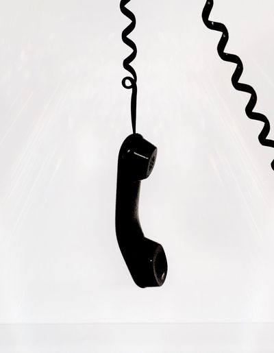 Phone Telephone Hanging On Waiting On Hold Abstract Conceptual Nobody Hung Up Telephone Receiver