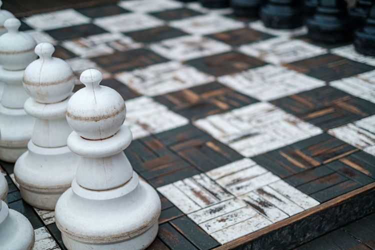 Full frame shot of chess pieces