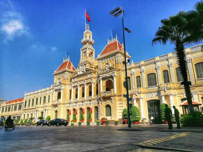 Architecture Sky Travel Destinations Architectural Column Clear Sky Building Exterior Outdoors Night No People Politics And Government People's Committee Building Ho Chi Minh City