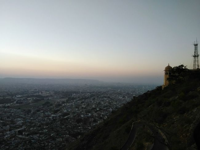 Finding New Frontiers Nature Outdoors Jaipur,India Sunrise Beauty In Nature Sky City Cityscape Travel Destinations Urban Skyline No People Architecture Tree Landscape Night