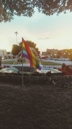 United we stand for Orlando United We Stand For Orlando We Love You Rainbow Flag Fountain My Hometown Avon Park Florida Florida Life Oh The Memories! Taking Photos In Memory Of 49 On The Mall Tall Palm Tree