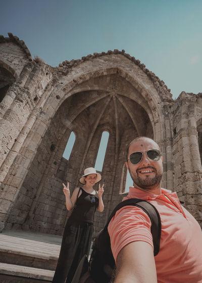 Travel to rhodes selfie