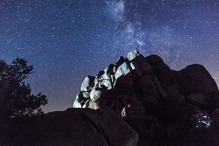 Star - Space Astronomy Night Milky Way Rock - Object Space Space And Astronomy Galaxy Nature Rock Formation Sky Exploration Constellation Low Angle View Star Field Adventure Scenics Science Rock Hoodoo Joshua Tree National Park EyeEmNewHere Be. Ready.