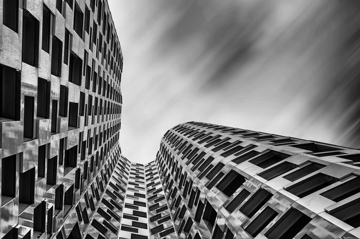 Berlin architecture Upper West Berlin City Lines Skyscrapers Upper West Apartment Architecture Bnw Building Exterior Built Structure Capital City Day House Longexposure Looking Up Low Angle View Modern Monochrome No People Outdoors Sky Skyscraper Window Windows