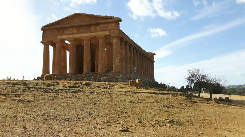 Architectural Column Architecture Built Structure Travel Destinations History Sky Outdoors City Day No People Ancient Civilization Vale Dei Tempi Italy🇮🇹 Agrigento Sicily Greek Temple Cloud - Sky Landscape Agriculture Architecture Rural Scene Scenics Beauty In Nature Nature