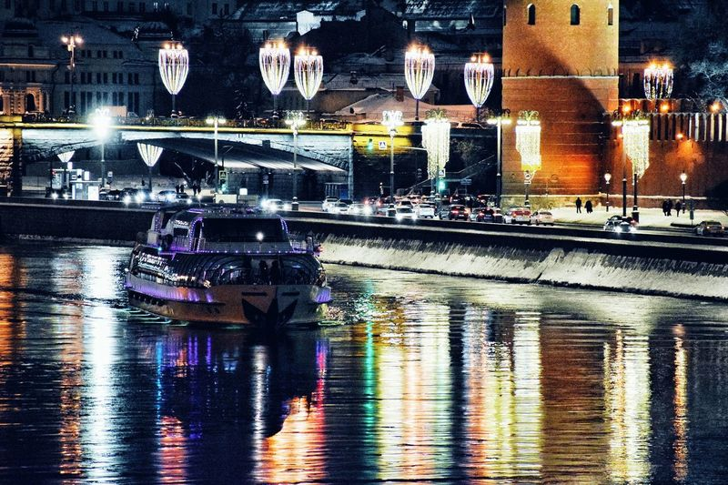✨Good evening! 🏙✨ River View Moscow Nights Nightphotography City Streets  Illuminated Water Reflections Night Photography Reflections Reflections In The Water City Lights Night Lights River Moscow River Illuminated Night Reflection Water Architecture City Built Structure Building Exterior No People Waterfront Transportation Building Outdoors Decoration Glowing