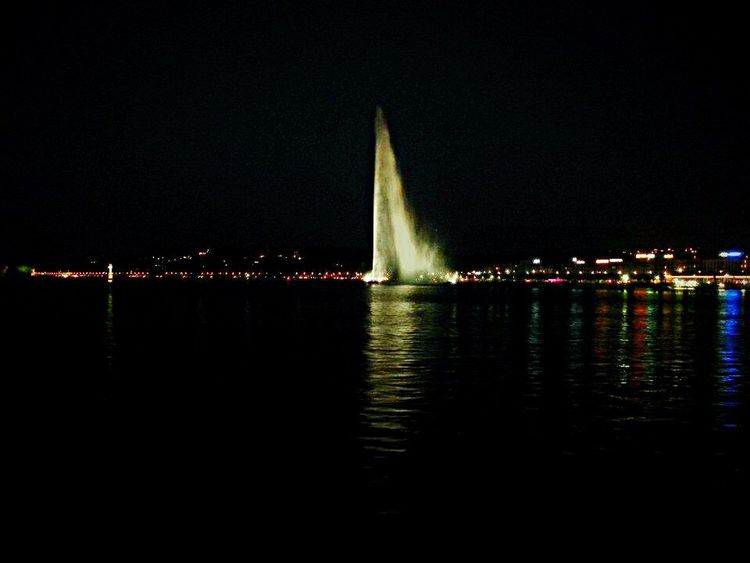 Switzerland Geneva Geneva Lake My Passion ❤ My Town My New Life  My Photography My Point Of View My Passion EyeEm Best Shots Showcase March Nightphotography Night Lights Colors Show Case March Cities At Night