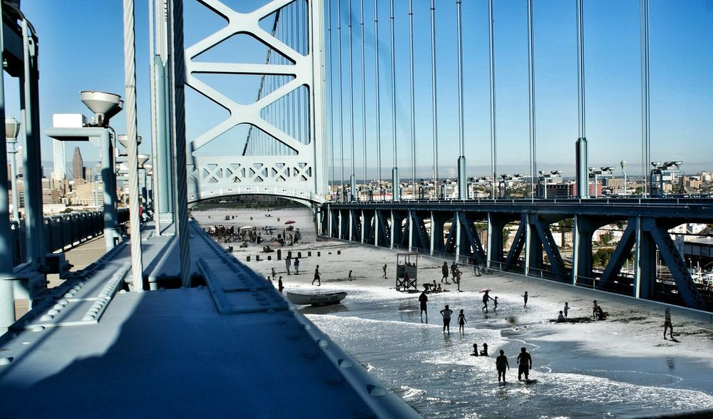 Bridge Don't Jump Architecture Blue Beach Beaches Beach Photography People Watching Urban Geometry Architecture Lightandshadow Shadow Enjoying Life Samsungs7edge Samsung Portrait S7edge Hanging Out Popular Discovering Great Works Philadelphia Absorbing Ocean View Nikond5300