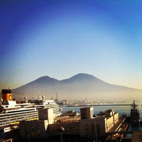 Outdoors Mare Porto Traghetto Sea Nautical Vessel Sky Panoramic Photography Naples Napoli Vesuvio Clear Sky