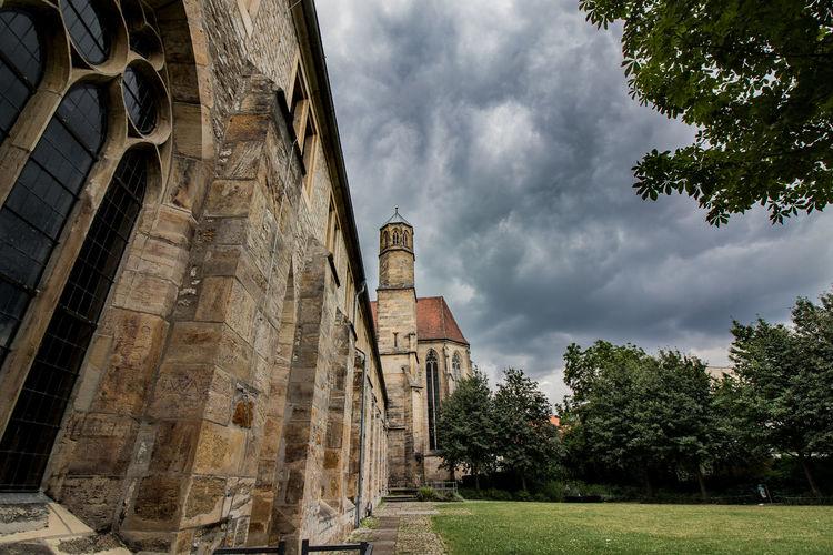 Lawn of church