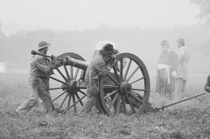 American Civil War reenactment photo by Scott Archer Field Weapon Cannon History Military
