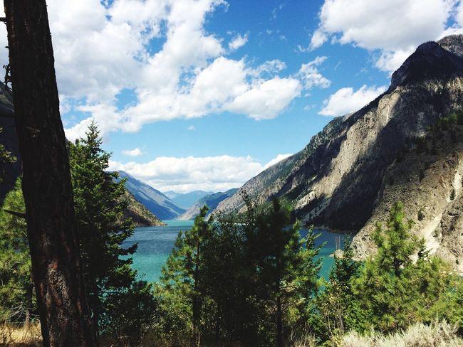 July 20th 2015 Lillooet BC, Canada Setonlake Lake Sun Summer