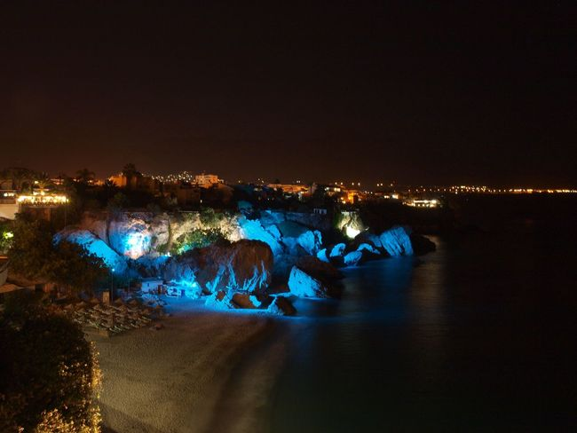 Andalucía Coastline SPAIN Animal Themes Beauty In Nature Clear Sky Coast Illuminated Landscape Nature Neon Life Night Nightlife No People Outdoors Scenics Sky Sunset Water