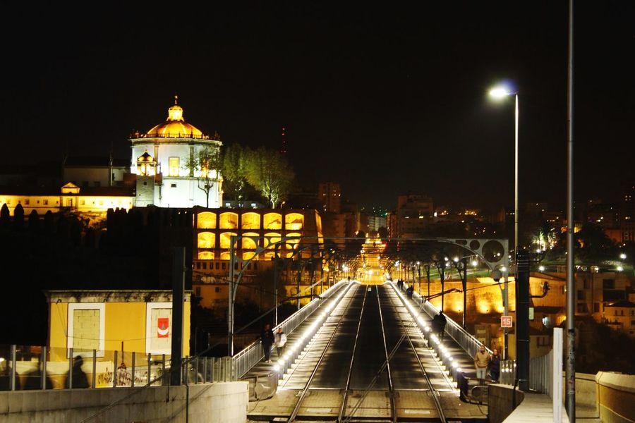 EyeEm Best Shots Eyemphoto EyEm Selects Metropolitan Bridge Man Made Night Illuminated No People Outdoors City Sky