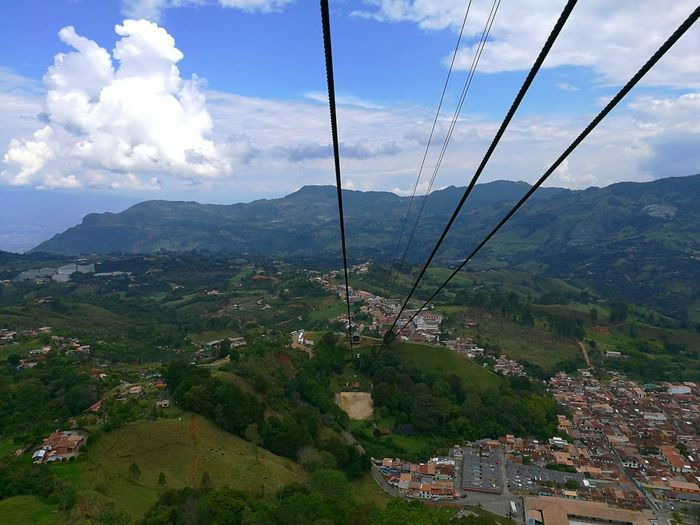 Teleférico de Jericó, Antioquia, Colombia. Cloud - Sky Mountain Range Mountain Tree Nature Landscape Sky Outdoors Beauty In Nature Scenics No People Agriculture Day Tradition Travel Destinations City Travel Beauty In Nature Nature The Great Outdoors - 2017 EyeEm Awards Perspectives On Nature