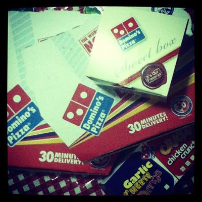 ~Domino's for supper ! Couldn't be more happier ! Lol!