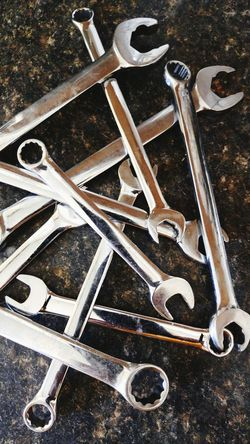 Wrenches Tools Chrome Shiny