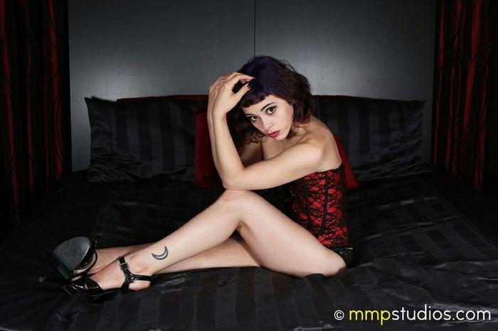 @melvinmaya @mmpstudios_com Photography Photoshoot Model Purple Hair Inked Tattoo Budoir Alluring Eyes Bed Houston Texas Followme