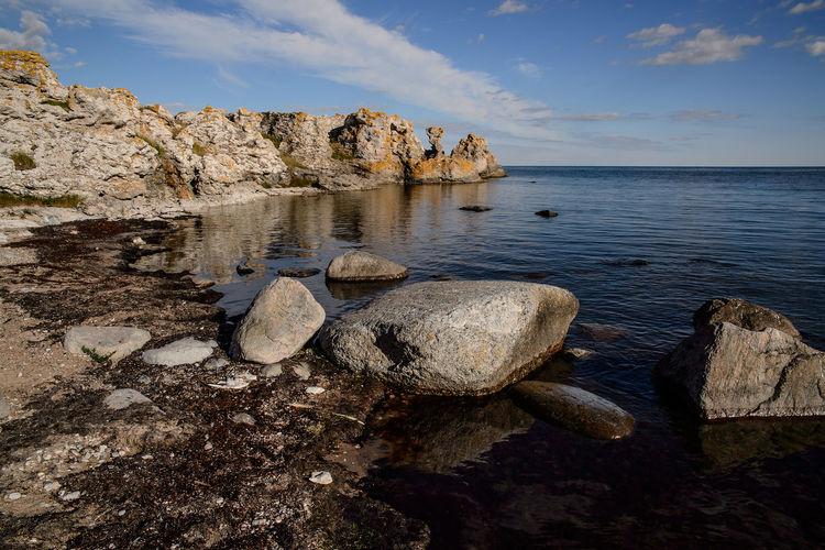 Landscape from Gotland,Sweden Gotland, Sweden Blue Sky Landscape Rocks And Water Spegelbild Summer First Eyeem Photo