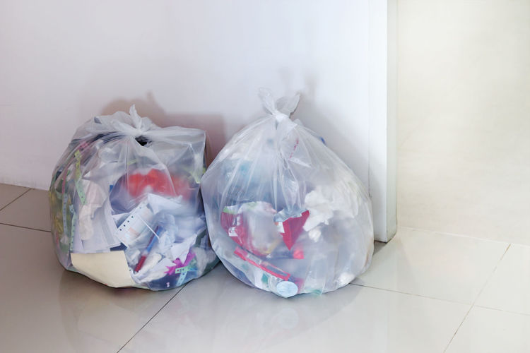 Garbage bag in