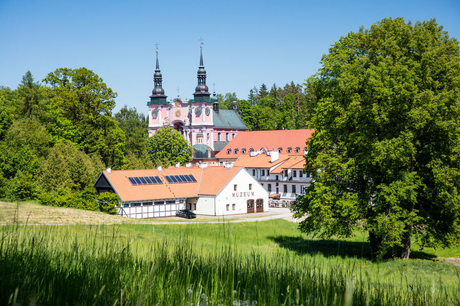 The pilgrimage church of Swieta Lipka close to Reszel, Ermland-Masuren. Church Green Color Growth Heiligelinde Nature Place Of Worship Poland Trees Baroque Baroque Architecture Blue Sky Jesuit Museum No People Pilgrimage Church Polish Swieta Lipka Wallfahrtskirche