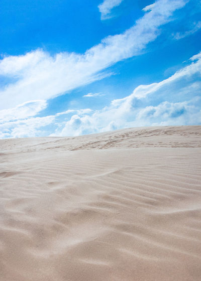 Arid Climate Beach Blue Cloud - Sky Day Desert Landscape Nature No People Outdoors Sand Sand Dune Scenics Sky The Great Outdoors - 2017 EyeEm Awards Tranquil Scene Tranquility