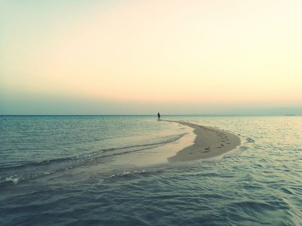 Beach Lowtide  RedSea Landscape Sinai Egypt Aftersunset