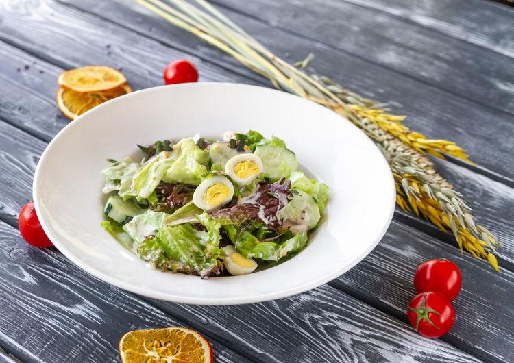 Warm salad with