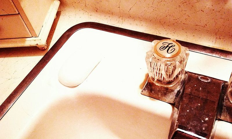 Indoors  City Creativity Taking Photos Bathroom Sink And Counter Bar Soap Vintage Style Faucet Handle