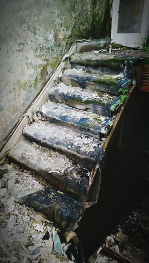 As if walking up the first flight of rotten steps wasn't scary enough, the second flight was even worse. Abandonedporn Abandoned Buildings Urban Decay Adventure Exploring Phoneography