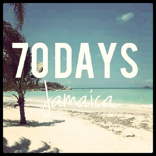 Countdown 70 Tenweeks Excited Holiday Jamaica RunawayBay NeedToGetAway Text Beach