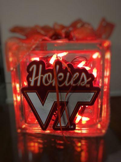 Virginia Tech Football  Tranquility Calm Enjoying Life Light Virginia Check This Out Christmas Lights Christmas Gift College