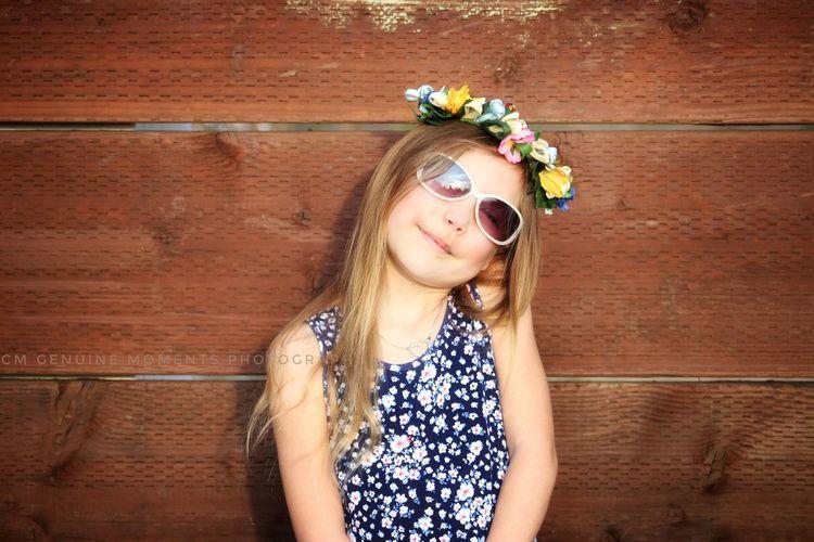 pretty girls and flowers... EyeEm Selects Flower Tiara Child Childhood Laurel Wreath Crown Portrait Headdress Wearing Flowers Headband Medium-length Hair Posing Sleeveless Top Thoughtful