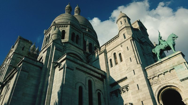 Architecture Building Exterior Montmartre, Paris Sacré Coeur, Paris Sunlight Sky Clouds Sky And Clouds Nuage☁️