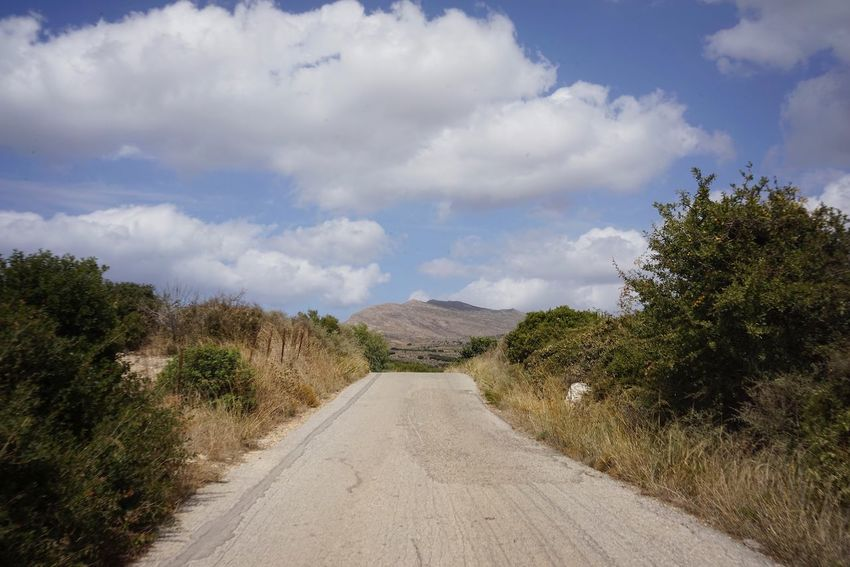 Byway Cloud - Sky Sky The Way Forward Plant Tree Direction Road Diminishing Perspective Transportation Nature vanishing point Beauty In Nature No People Day Empty Road Tranquility Scenics - Nature Tranquil Scene Outdoors