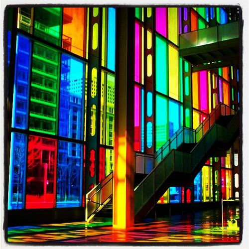 Colored Windows at Palais Des Congres. #montreal 514 Oldmontreal Architecture Quebecois IPhoneography 819 Montréal Allshots_oct12_landmark Colored Colored_windows Windows Colored_shadows Tourist Palaisdescongres Quebec Centre_ville Canada Conventioncenter Landmark Stunning Icon All_shots Palais Instagood