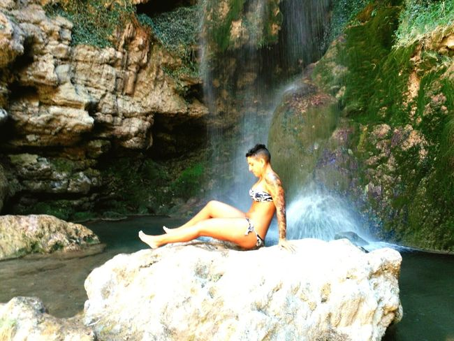 Nature Naturephotography Naturelover Waterfall Waterfall_collection Water Landscape Waterfalls And Calming Views  Nature_collection Tattoomodel Tattooedgirls Tattoo Girl Tattoo Life Tattoo Relax Relaxing Time Relaxing Place Non-urban Scene Vacations Summer Rock Formation teruel riodeva Motion Full Length Rock - Object Leisure Activity Lifestyles
