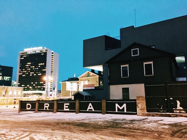 Just do it! EyeEmNewHere Dream Visitestonia Tallinn Building Exterior Outdoors No People City Clear Sky Blue EyeEmNewHere